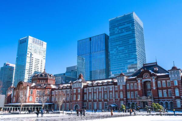 東京駅付近の町並み