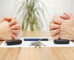 離婚で不動産を財産分与するイメージ