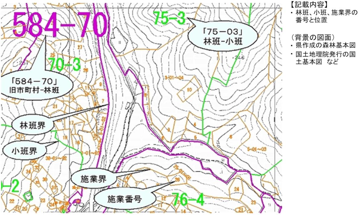 森林計画図の例