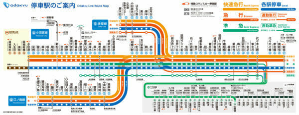 小田急路線図