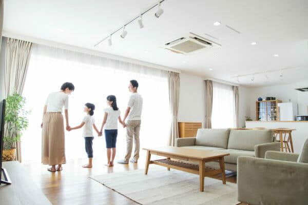 家と家族イメージ